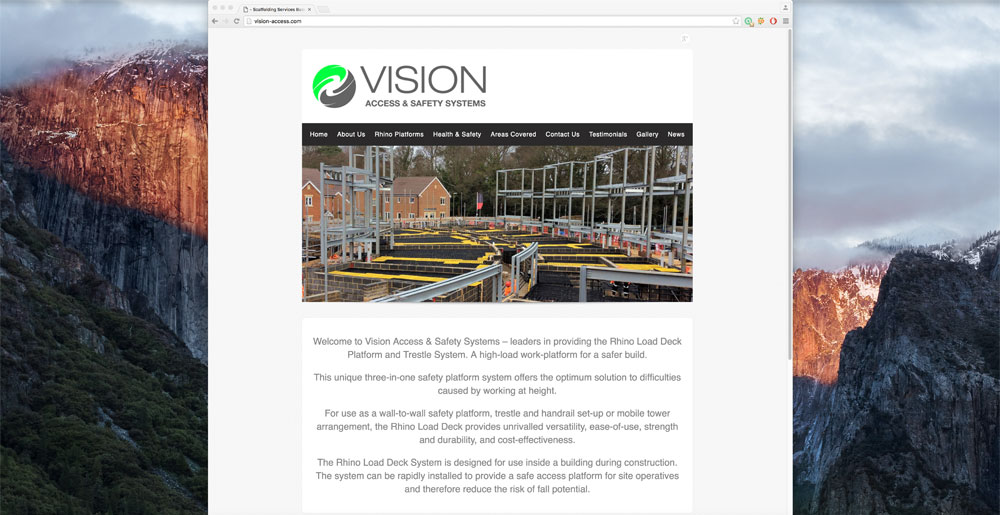 Vision Access Website Homepage Narrow